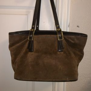 Like new suede like material, coach purse, NEW